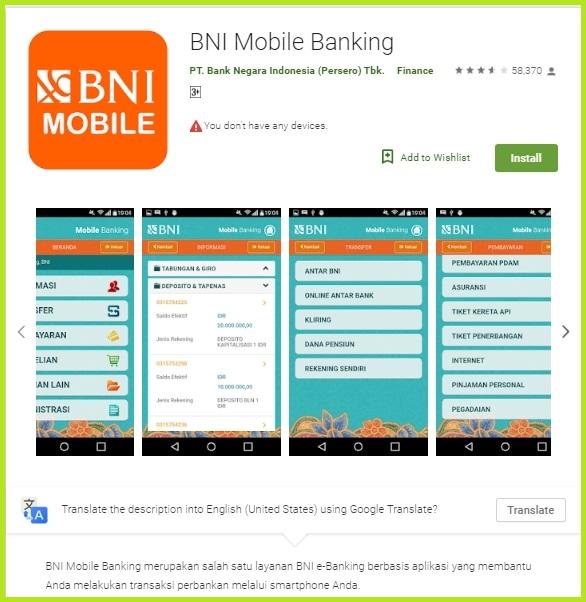 Download BNI Mobile Banking