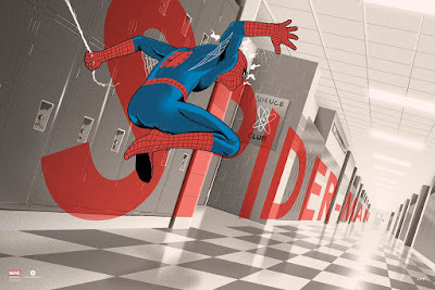New York Comic Con 2017 Exclusive Spider-Man Regular Edition Screen Print by Doaly x Bottleneck Gallery x Marvel