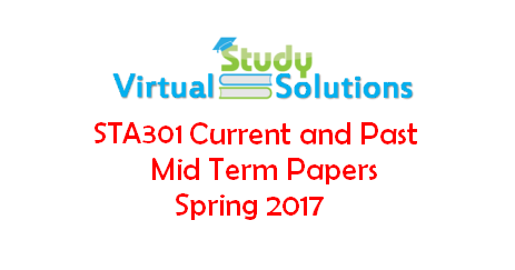 sta 301 mid term solved papers