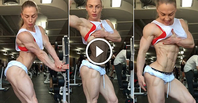 Unbelievable Female Bodybuilder With 0% Body Fat Shows Her Physique!