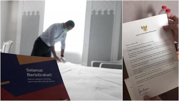Anies Tinggalkan Sepucuk Surat di Setiap Kamar Hotel untuk Tim Medis, Begini Isinya