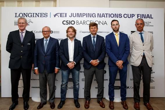 De izquierda a derecha; John Roche, Emilio Zegrí, David Escudé, Curro Espinós, Pere Vilà y Santiago Mercé
