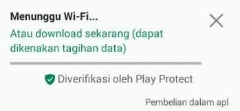Menunggu Wifi atau Download Sekarang