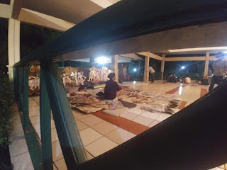 Penjual wayang legendaris Mbah Binah atau Mbah Wayang di TBRS Semarang