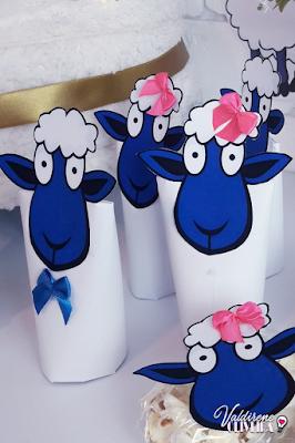 lembrancinha de festa no tema ovelha