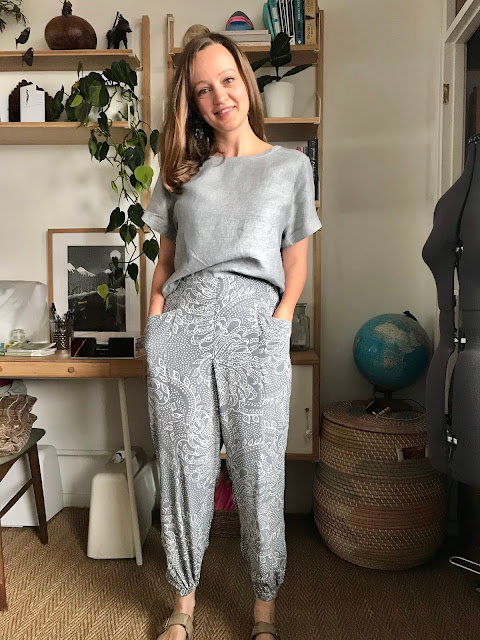 Diary of a Chain Stitcher: Closet Case Patterns Cielo Top and Pietra Pants in Linen and Viscose Crepe from The Fabric Store