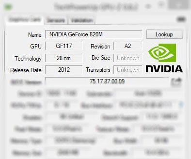 Nvidia GeForce 820M(ノートブック)フルドライバをダウンロード
