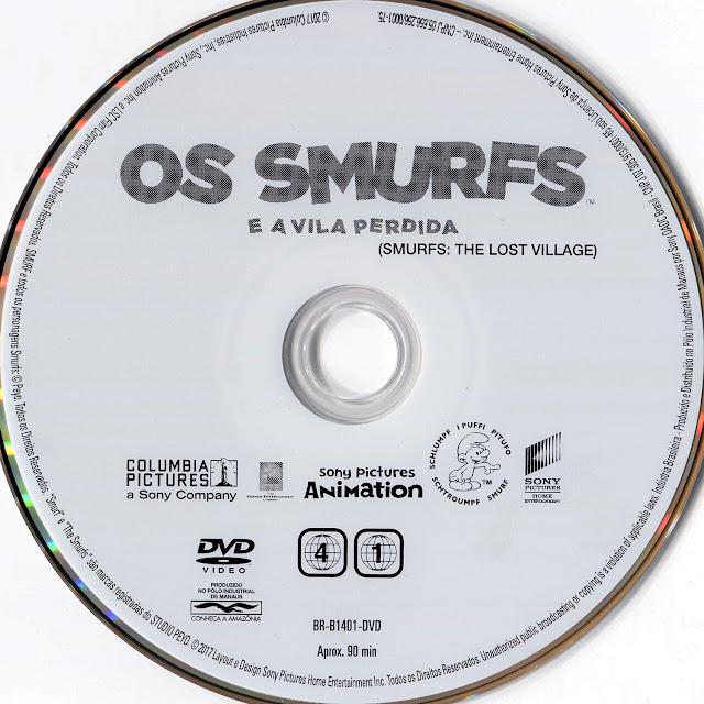 Label DVD Os Smurfs e a Vila Perdida