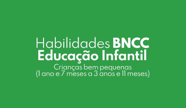 Habilidades da BNCC Crianças bem pequenas (1 ano e 7 meses a 3 anos e 11 meses)