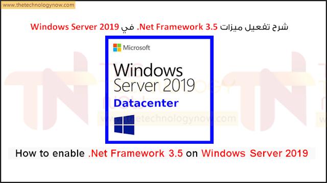 How to enable .Net Framework 3.5 on Windows Server 2019