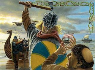 Ataque vikingo al Monasterio de Lindisfarne