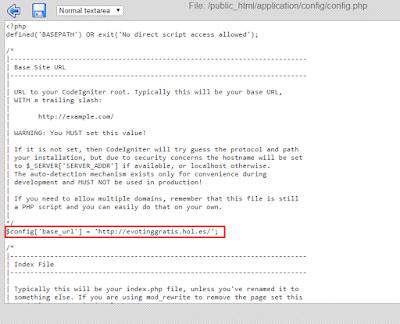 cara konfigurasi base url di hosting