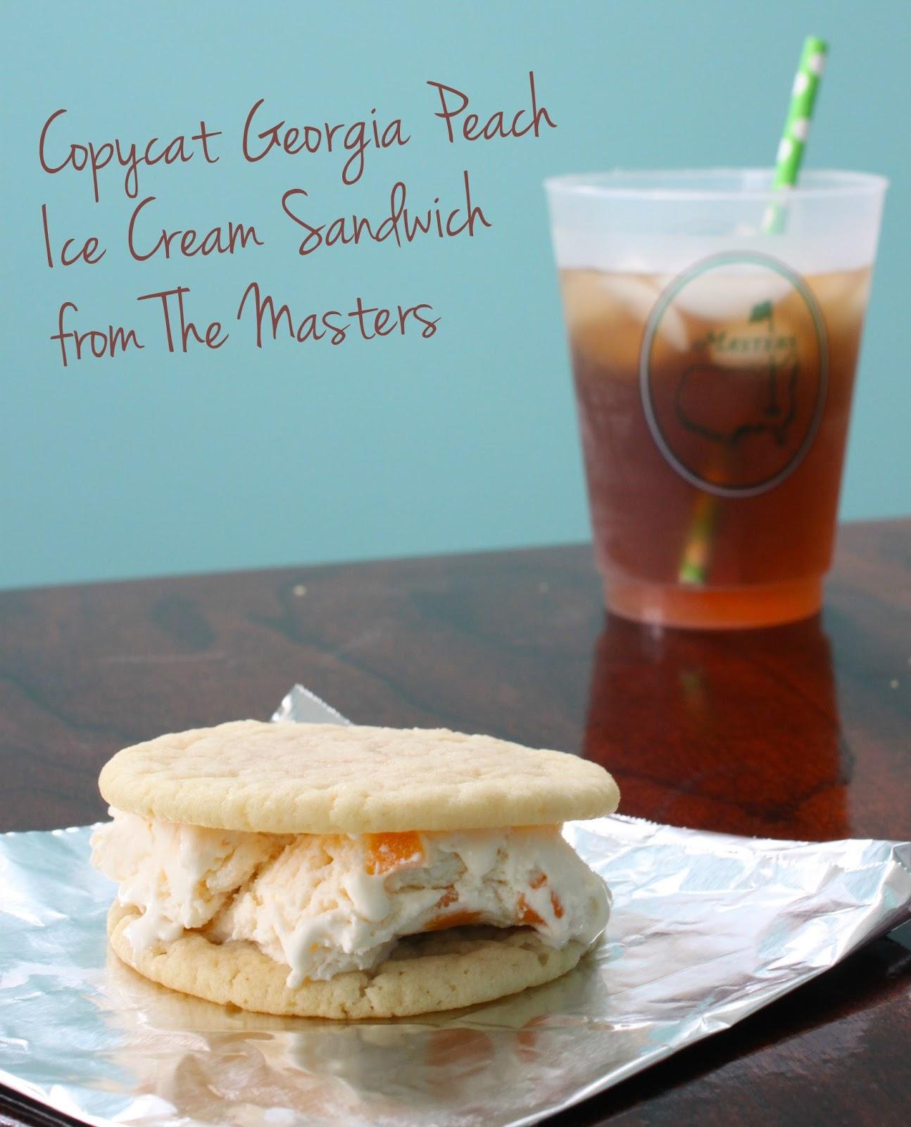 borrowed heaven: Masters Copycat: Georgia Peach Ice Cream Sandwich