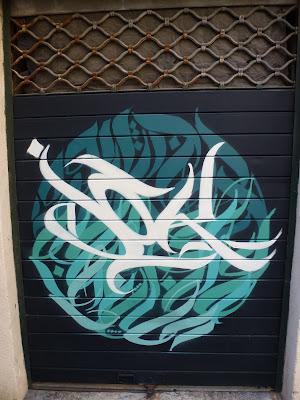 Calligraphy am Garagentor - Marseille, France