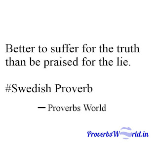 Proverbs World.in, proverbs, Proverb Meaning, Better to, Suffer, Swedish, Proverbs sentenses