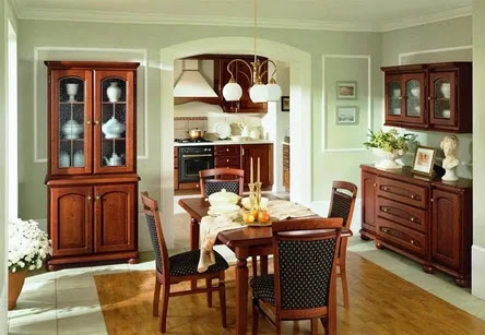 interior english style, Furniture for the kitchen and dining room
