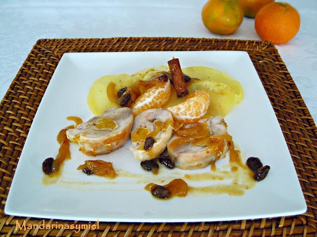 Muslos De Pollo Con Salsa De Mandarina Y Pasas