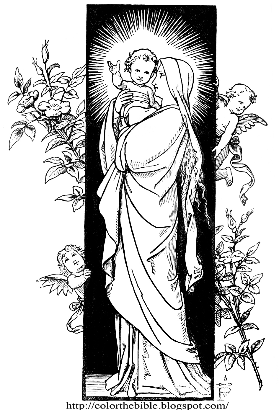 clipart of mother mary - photo #37