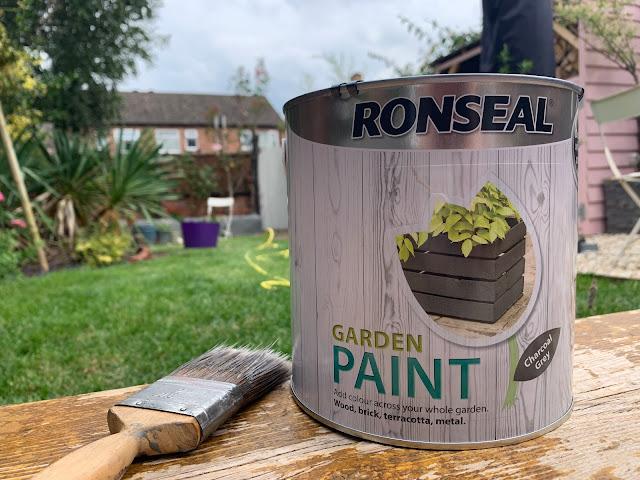 ronseal garden paint in charcoal