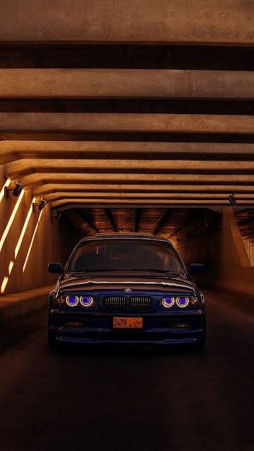 Free wallpaper BMW E46, Blue Car, Tunnel