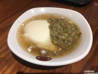 傳統白豆花加綠豆