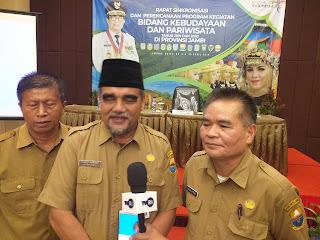 Kadibudpar Provinsi Jambi Buka Rapat Sinkronisasi Dan Perencanaan Program Kegiatan Bidang Kebudayaan Dan Pariwisata.