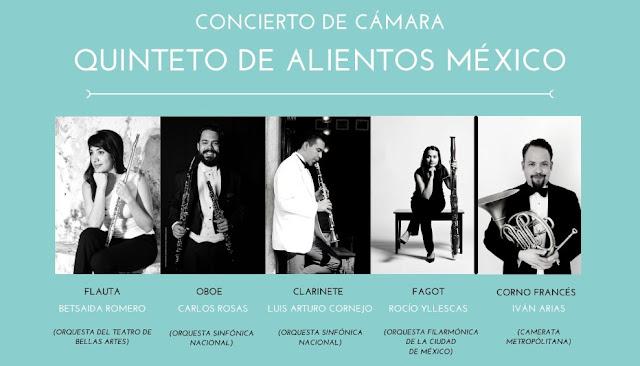 Concierto de Cámara Quinteto de Alientos de México en la Galería Caracol Purpura Mérida