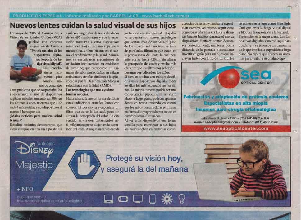 73a2cb6438 Nuevas Tecnologías en Lentes Oftálmicas protegen las Salud Visual de sus  Hijos