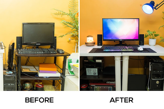 how to improve your desk setup