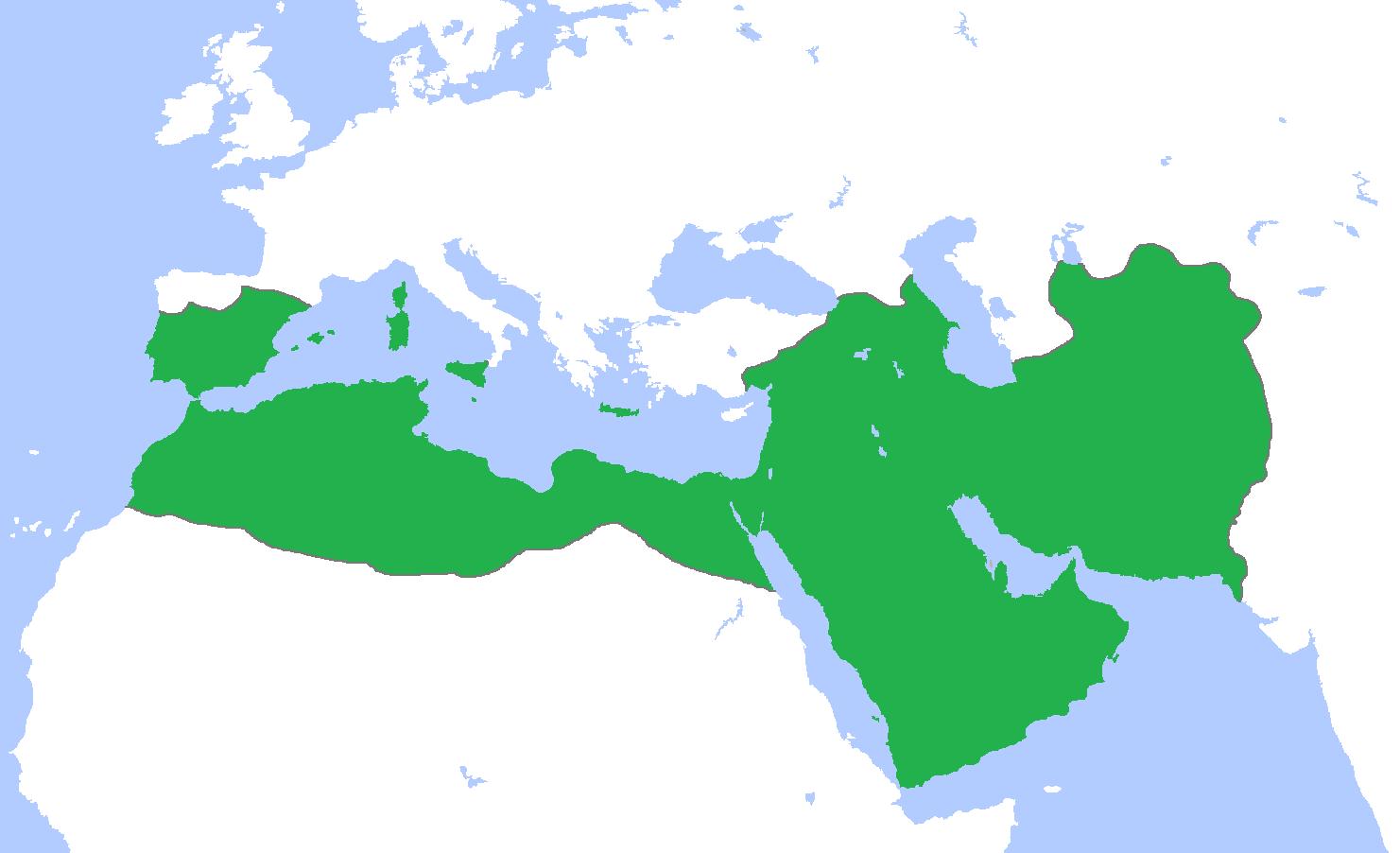 ইসলাম অর্ধপৃথিবীতে প্রতিষ্ঠিত ছিলো