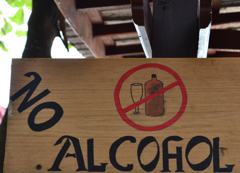 No alcohol in Malaysia