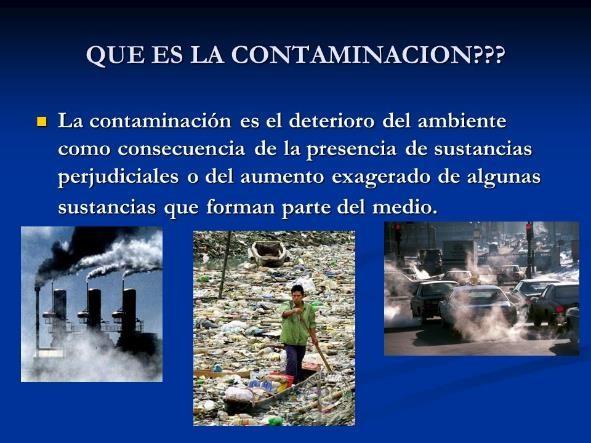 que es la contaminacion