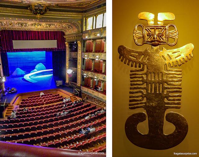 Bogotá, Colômbia: Teatro Colón e Museu do Ouro