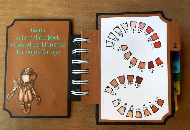 Copic Marker Europe: My DIY Copic Color wheel book