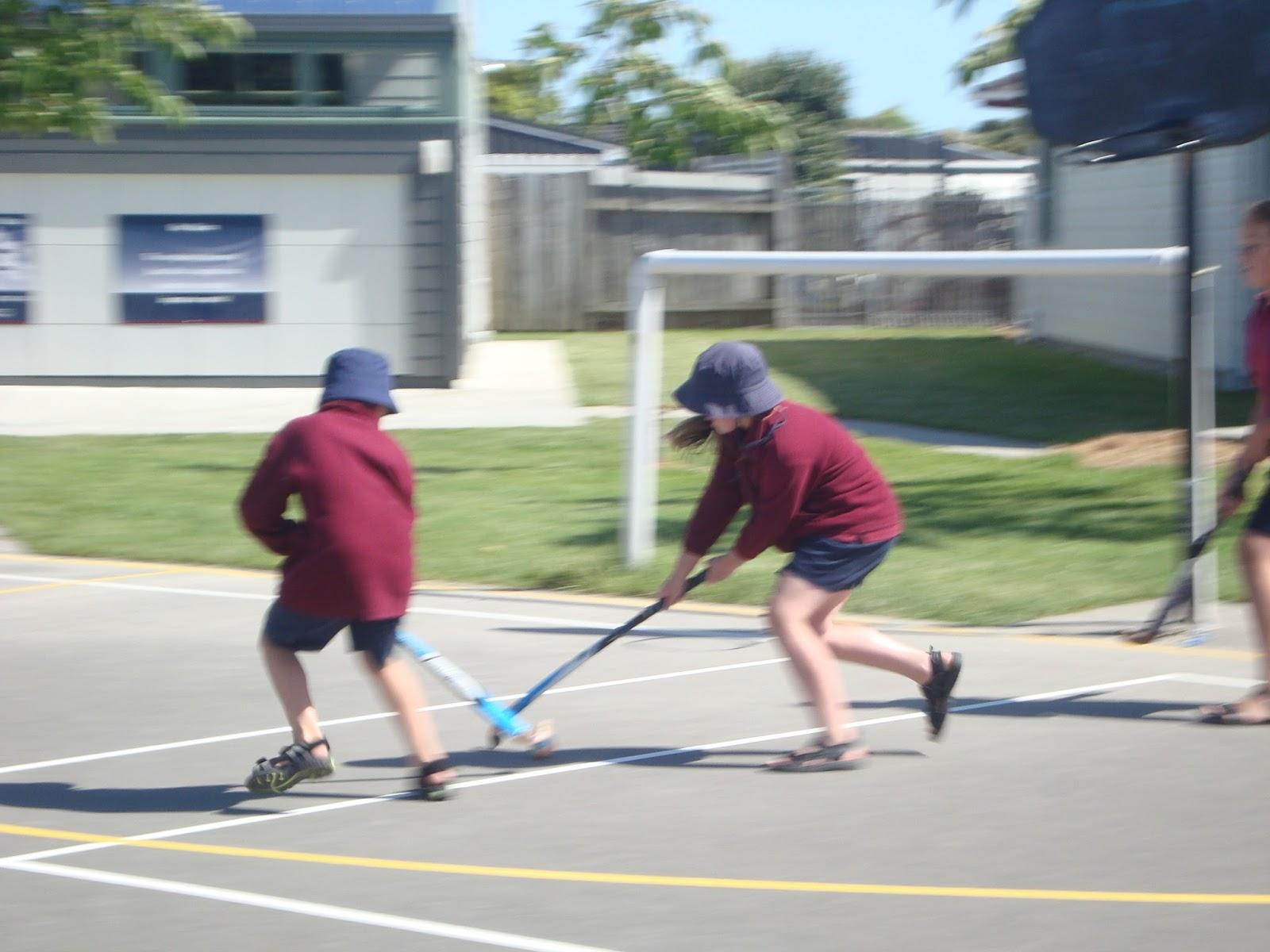 Incredible Cornerstone Kids: Developing our hockey skills