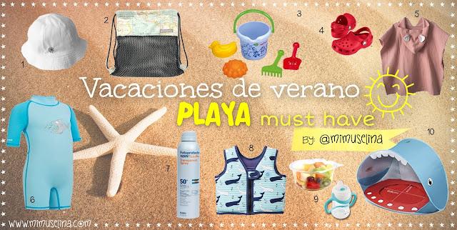 qué llevar a la playa con un bebé blog mimuselina imprescindibles para ir a la playa con bebés