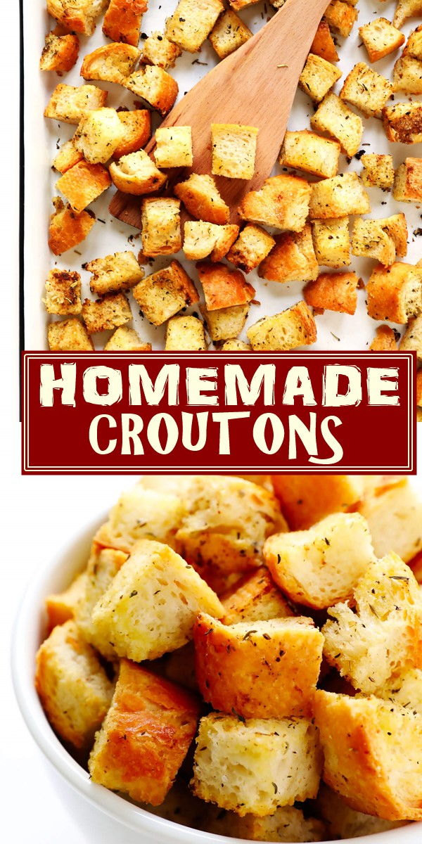 HOW TO MAKE HOMEMADE CROUTONS #appetizerrecipes