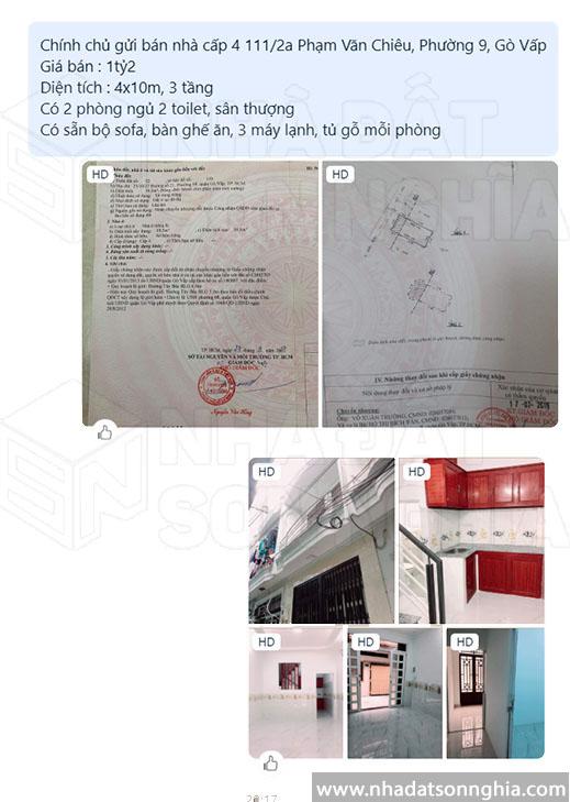 Mẫu ký gửi nhà đất chuẩn chỉnh trên Zalo