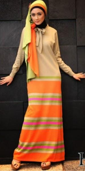Gamis Rajut Trendy 16 Contoh Model Gamis Muslimah Trendy Kumpulan