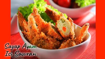 sayap ayam,sayap ayam isi sayur,resep masakan sehari-hari,Food,resep masakan rumahan,