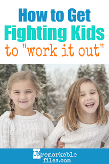 I can't believe I didn't think of this brilliant parenting idea earlier! Is it driving you crazy being the referee when your kids fight? Straight from a mom of 6, here are some simple parenting strategies to stop sibling fighting and teach children to work it out! #siblingrivalry #kids #parentingtip