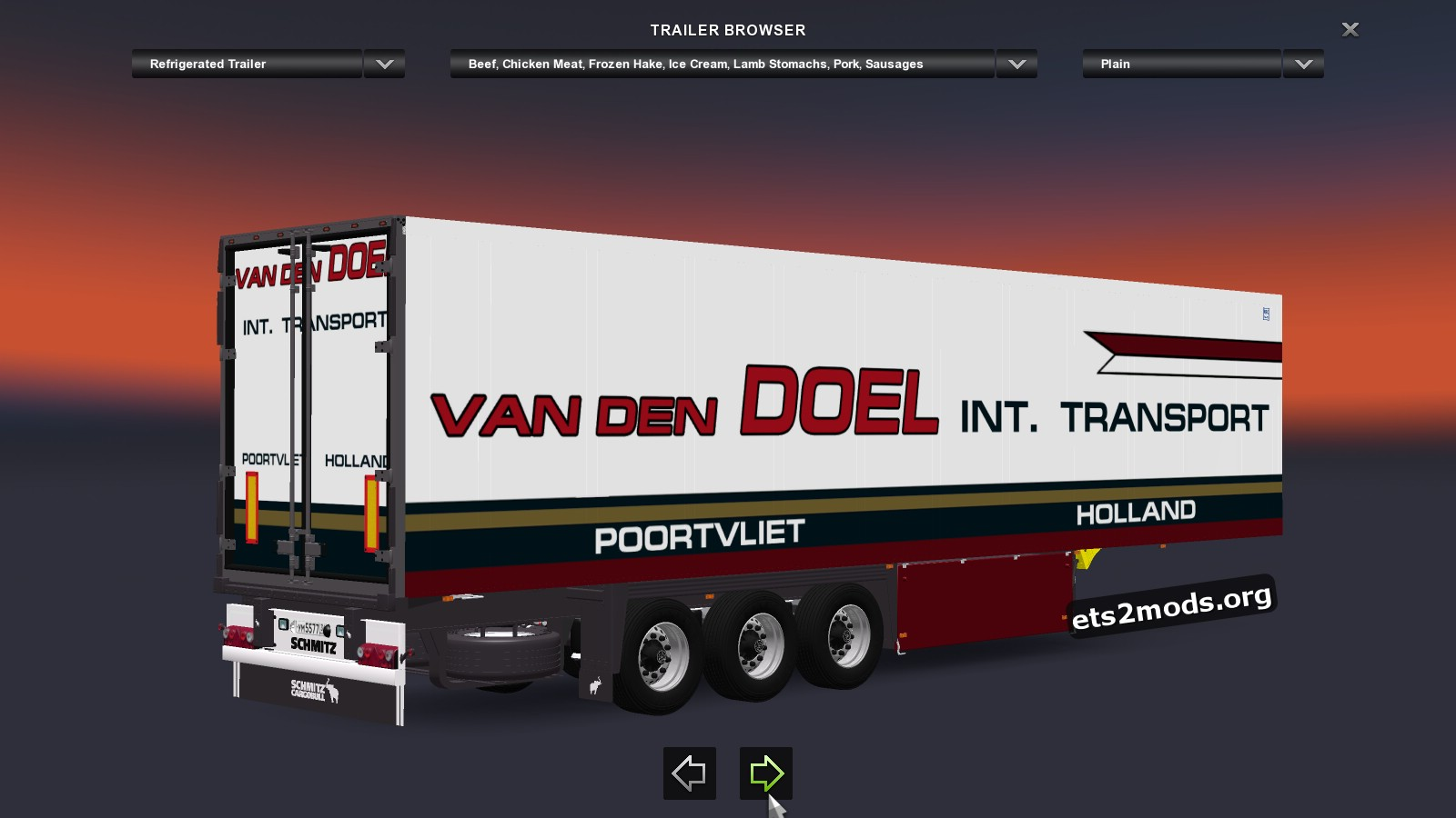 Van den Doel Int. Transport Trailer