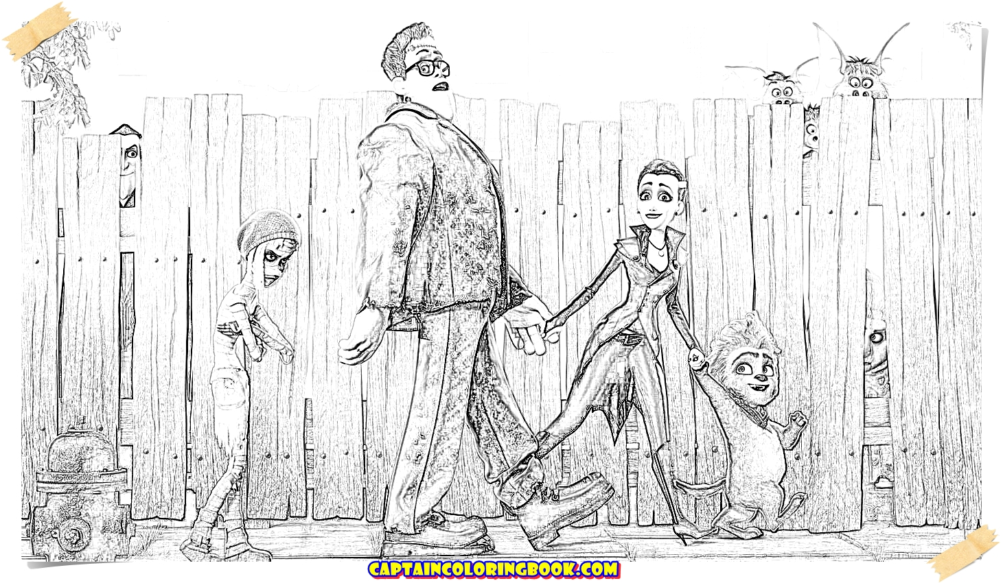 Monster Family Coloring Book - Coloring Page