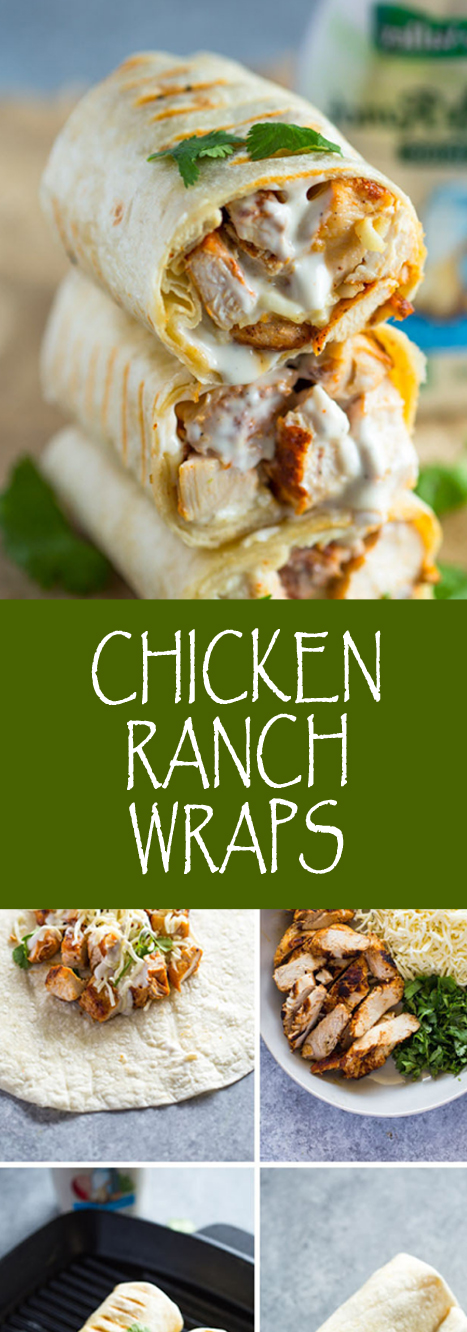 Recipe CHICKEN RANCH WRAPS