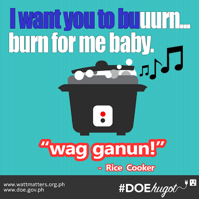 Philippine Department of Energy Hugot Lines Rice Cooker