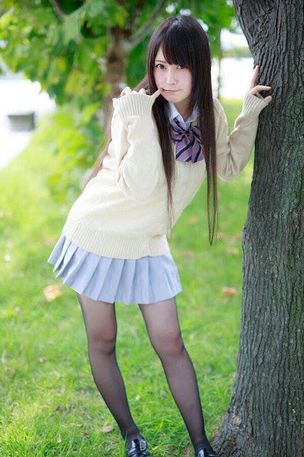 御伽ねこむ Nekomu Otogi School Girl Images 13