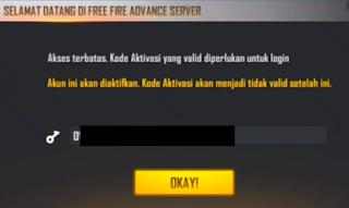 Cara Dapatkan Kode Aktivasi FF Advance Server Mudah