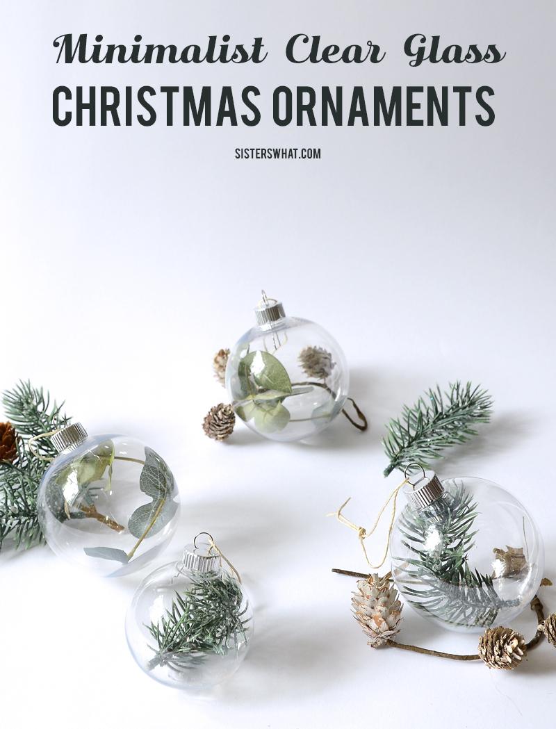 minimalist nordic christmas ornaments