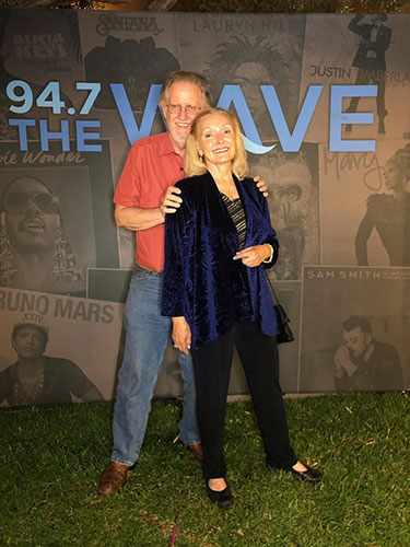 Resident Astronomers pose at 94.7 FM booth at Newport Jazz Series (Source: Palmia Observatory)