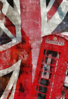 Picture of union jack and red phonebox-Top gardening blogs on the web